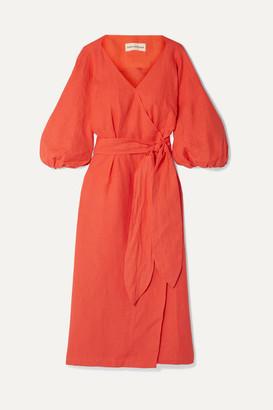 Mara Hoffman Francesca Hemp Wrap Dress - Bright orange