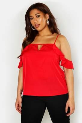 0619585af4f10 boohoo Red Cold Shoulder Women s Tops - ShopStyle