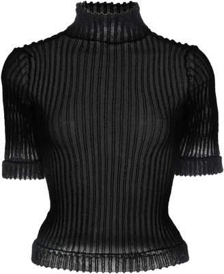 Cecilie Bahnsen Tippi Short Sleeve Mock Neck Top Size: XS/S