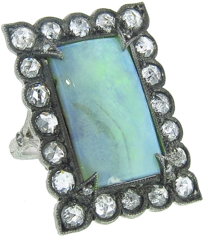 Cathy Waterman opal lace edge ring