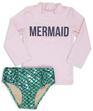 Shade Critters Girls' Mermaid Magic Rash Guard Swimsuit Set - Little Kid