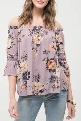 Blu Pepper OTS Floral Top