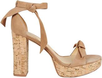 Alexandre Birman Mabeleh Cork Platform Suede Sandals