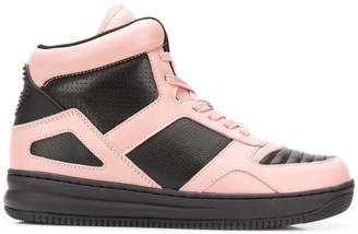 Emporio Armani colour block hi-top sneakers