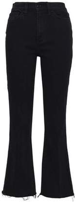 Tory Burch Frayed High-Rise Flared Jeans
