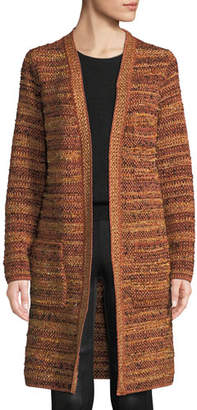 M Missoni Metallic-Knit Boucle Long Jacket