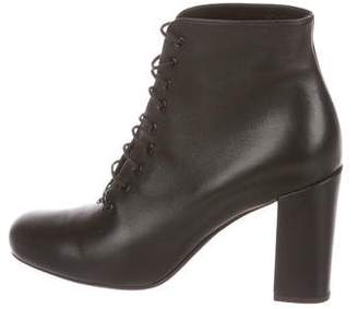 Saint Laurent Leather Ankle Booties