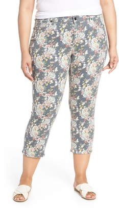 Lucky Brand Lolita Floral Crop Skinny Jeans