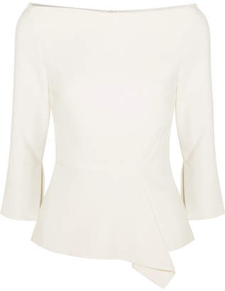 ... Roland Mouret Millom Stretch-crepe Top - Off-white