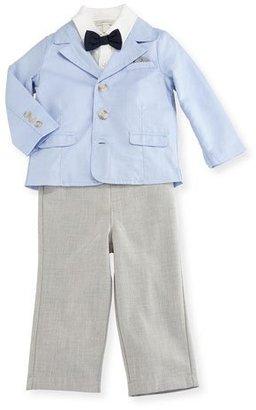 Miniclasix Oxford Blazer, Jersey Shirt & Straight-Leg Pants, Blue, Size 12-24 Months $82 thestylecure.com