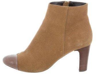 Rebecca MinkoffRebecca Minkoff Suede Cap-Toe Ankle Boots