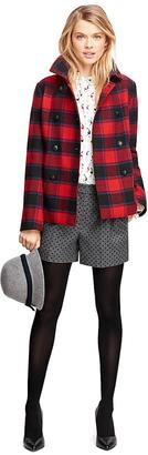 Wool Double-Breasted Buffalo Check Coat $348 thestylecure.com