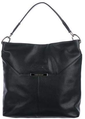 Longchamp Grained Leather Hobo