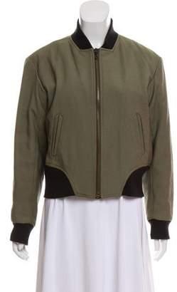Rag & Bone Leather-Trimmed Bomber Jacket