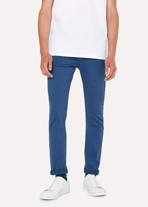 Paul Smith Men's Slim-Fit Blue Garment-Dye Jeans