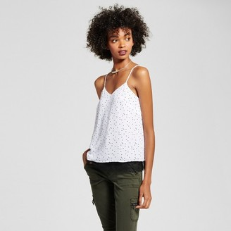 Mossimo Women's Lace Trim Woven Cami with Polka Dots White - Mossimo $17.99 thestylecure.com