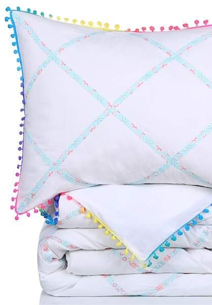 NMK King Bohemia Pompom Comforter Set