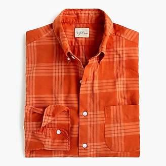 J.Crew Overdyed plaid shirt