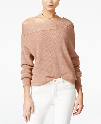 Free People Off-The-Shoulder Sweater $108 thestylecure.com