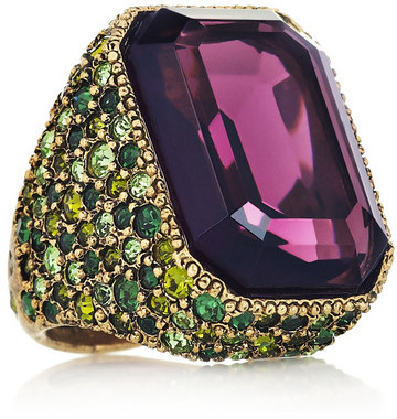 Kenneth Jay Lane Gold-plated Swarovski crystal ring