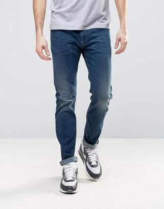 Diesel Thommer Slim Stretch Taper Jeans 84bu Dark Wash