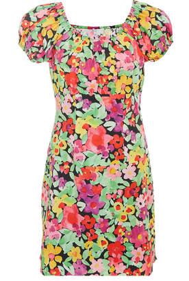 Caroline Constas Calla Off-The-Shoulder Floral-Print Cotton Mini Dress
