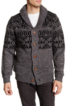 Weatherproof Vintage Faux Shearling Lined Jacquard Pattern Cardigan $125 thestylecure.com