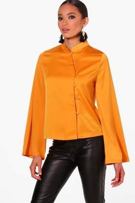 boohoo Lily Mandarin Collar Jacket