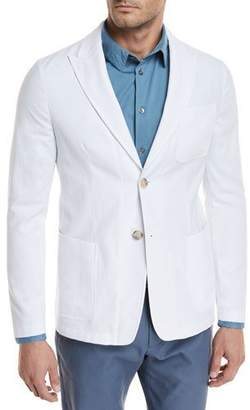 Giorgio Armani Piqué Three-Pocket Sport Coat