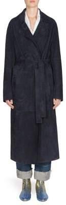 Loewe Long Suede Belted Coat