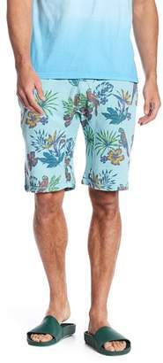 Public Opinion Tropical Knit Drawstring Shorts