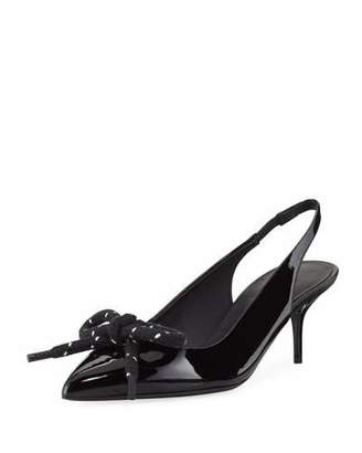 Burberry Rope-Bow Slingback Patent Pump