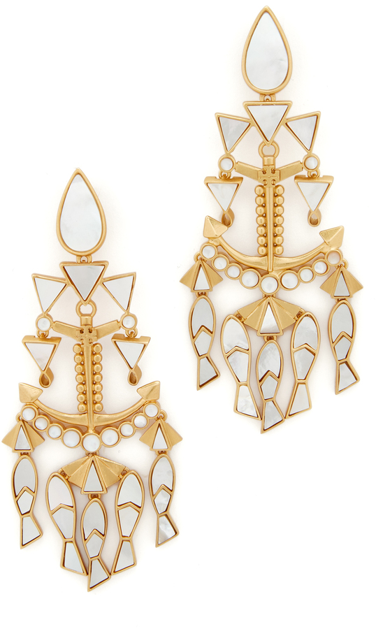 Tory Burch Tory Burch Fish Statement Clip On Earrings