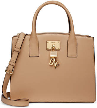 DKNY Elissa Pebbled Split with Charm Detail Large Satchel, Created for Macy's