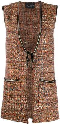 Etro long tweed waistcoat