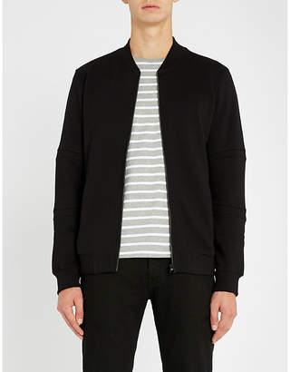 HUGO Stand collar stretch-cotton jersey jacket