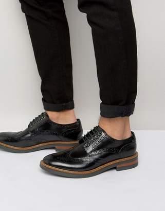 Base London Woburn Hi-Shine Leather Brogues