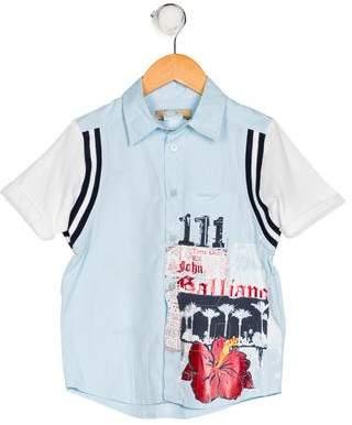John Galliano Boys' Printed Button-Up Shirt