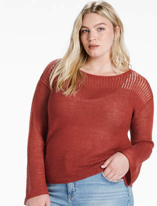 Lucky Brand BELL SLEEVE PULLOVER SWEATER