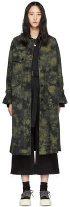 Proenza Schouler Khaki and Black Twill Trench Coat