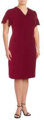 Alexia Admor Ruffle-Sleeve Sheath Dress