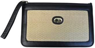 Christian Dior Beige Wicker Clutch bag