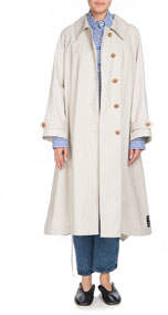 PSWL Button-Down Belted Trench Coat