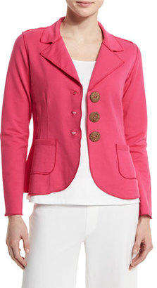 Neon Buddha New Denim Button-Front Jacket, China Cat Pink $195 thestylecure.com