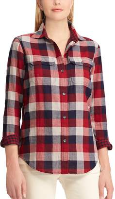 Chaps Petite Plaid Button-Down Work Shirt