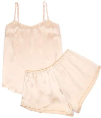 Law of Sleep - Marie Silk Camisole Set in Sable
