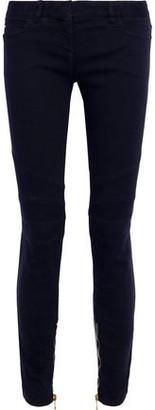 Balmain Zip-detailed Mid-rise Skinny Jeans