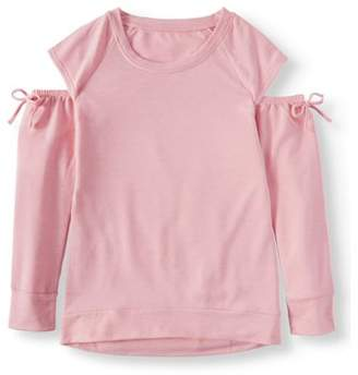 Star Ride Cold Shoulder Long Sleeve Tunic Top (Little Girls & Big Girls)