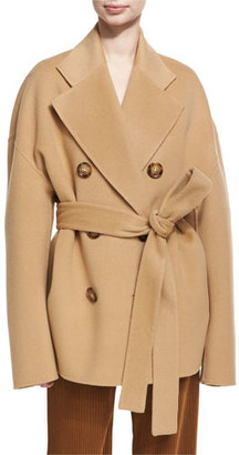 Acne Studios Claar Double-Breasted Wool-Cashmere Coat, Camel $1,250 thestylecure.com