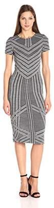 Three Dots Women's Short Sleeve Crewneck Dress